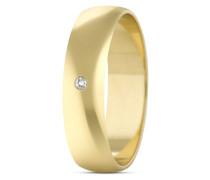 Ring aus 333 Gold mit Diamant-50