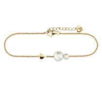 Armband Pearl Love aus vergoldetem 925 Sterling Silber mit Süßwasser-Zuchtperlen