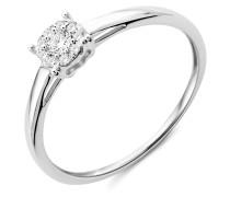 Ring aus 375 Weißgold mit 0.10 Karat Diamanten-11