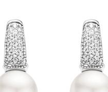 Ohrhänger aus 925 Sterling Silber mit Swarovski-Perlen & Zirkonia