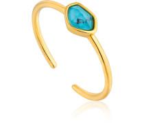 Damenring Turquoise Adustable Ring 925er Silber
