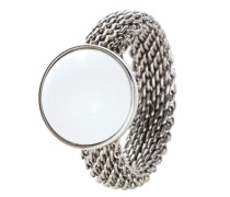 Ring Sea Glass aus Edelstahl-52