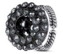 Ring Inside Out aus Metall mit Glassteinen