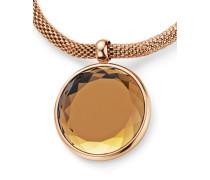 Halskette aus Edelstahl mit Kristall