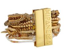 Armband Ohmygold aus Messing & Stoff