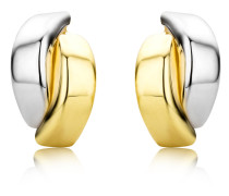 Ohrstecker aus 375 Bicolor-Gold