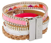 Armband Pinkdream aus Kunstperlen & Stoff