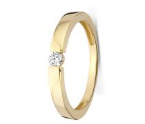 Ring aus 375 Gold mit 0.10 Karat Diamant-56