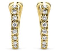 Creolen aus 585 Gold mit 0.11 Karat Diamanten