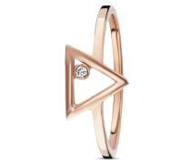 Ring Love Fine Line aus rosévergoldetem 925 Sterling Silber mit Zirkonia-50