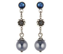 Ohrhänger Pearl 'n' Ribbons aus Metall mit Glassteinen & Kunstperlen