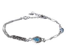 Armband aus 925 Sterling Silber mit Jade