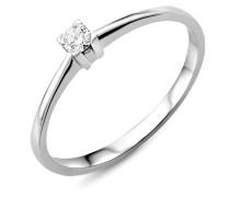 Ring aus 750 Weißgold mit 0.07 Karat Diamant-54