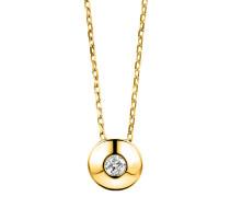 Halskette aus 375 Gold mit 0.05 Karat Diamant