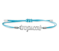 Armband Love Tropical Jungle aus Stoff & 925 Sterling Silber