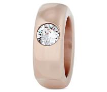 Ring Brittany aus rosévergoldetem Edelstahl mit Swarovski-Stein