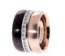 Ring Arabesco aus Edelstahl mit Kristallen-60