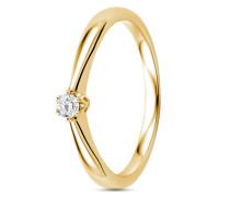 Ring aus 375 Gold mit 0.09 Karat Diamant-50