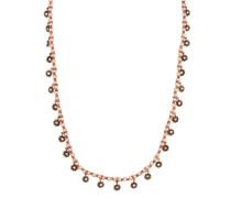 Halskette Pearl 'n' Ribbons aus Metall mit Glassteinen