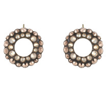Ohrhänger Inside Out aus Metall mit Glassteinen