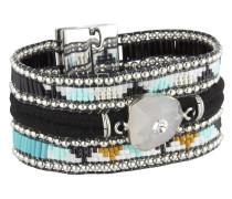 Armband Blackmamba aus Metall, Kunststoff & Stoff