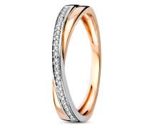 Ring aus 375 Bicolor-Gold mit 0.09 Karat Diamanten-54