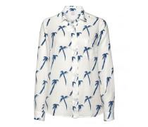 Bluse NOELLE für Damen - Off-white / Ocean