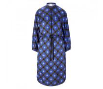 Kleid Annika - Mitternachtsblau/Braun