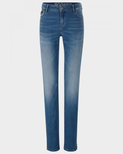 High Waist Jeans Grace für Damen - Washed Denim Blue