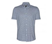Shirt TOM für Herren - Blue Melange / Off-white