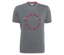 T-SHIRT ROC für Herren - Gray Melange / Red