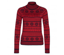 Pullover LUICA für Damen - Navy / Fire Red