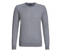Pullover FELIX für Herren - Smoked Blue / Taupe Melange