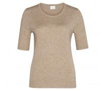 Kaschmir Halbarm-Pullover INA für Damen - Beige Melange