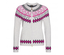 Strickjacke AGNES für Damen - Gray Melange / Multicolor
