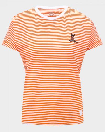 T-Shirt Olive für Damen - Orange/Weiß T-Shirt