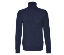 Schurwoll-Pullover QINN für Herren - Denim Blue