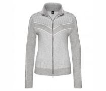 Strickjacke CARINA für Damen - Light Gray Mele / Off-white