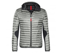 Funktions Mixed-Combo Daunenjacke HARVEY für Herren - Silver / Black