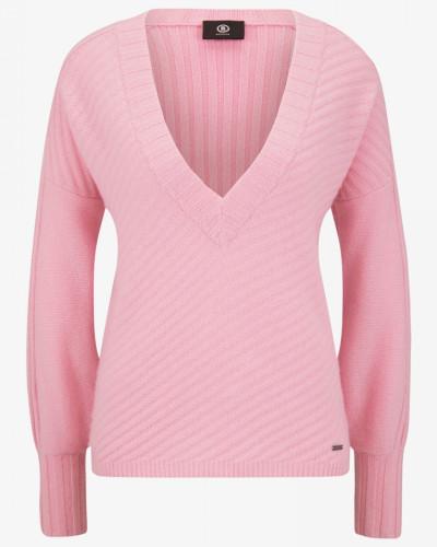 Kaschmir-Pullover Isla für Woman - Flamingo-Rosa Pullover