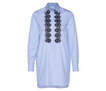 Long-Bluse LEANI für Damen - Soft Blue / Multicolor