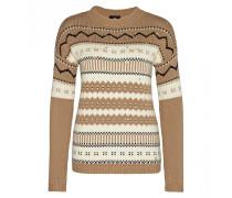 Pullover INGA für Damen - Camel / Multicolor