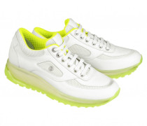 SNEAKERS NEW YORK LADY 8C für Damen - White / Lime