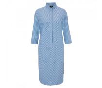 Blusenkleid Suri - Blau/Weiß