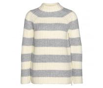 Grobstrick-Pullover SELINA für Damen - Silver / Off-White