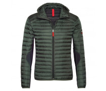 Mixed-Combo Daunenjacke HARVEY für Herren - Forest Green / Black