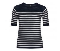 Schurwoll-Pullover AMAJA für Damen - Navy / White