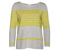 Pullover FELICA für Damen - Light Gray Melange / Canary