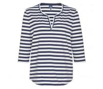 Shirt ZULA für Damen - White / Jeans Blue