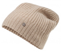 Kaschmir-Mütze ROANA für Damen - Beige Melange